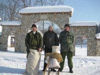 Zimska prihrana divljači u Komoranu
